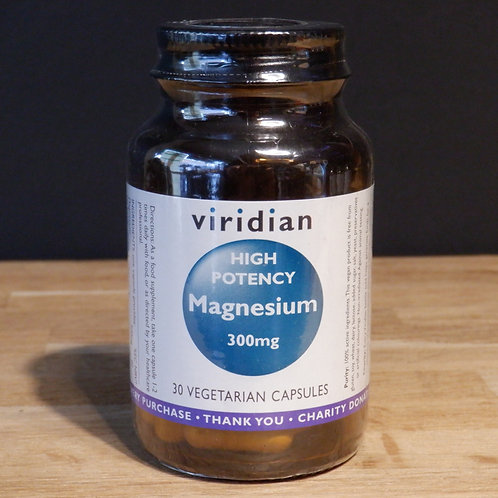VIRIDIAN - HIGH POTENCY MAGNESIUM 300MG - 30 CAPS