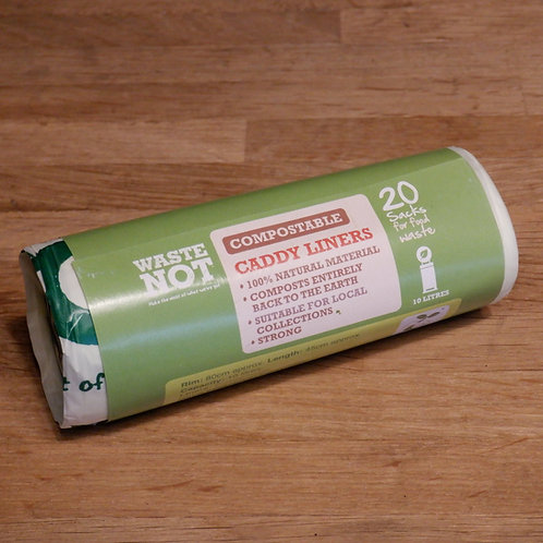 WASTE NOT- COMPOSTABLE CADDY LINERS