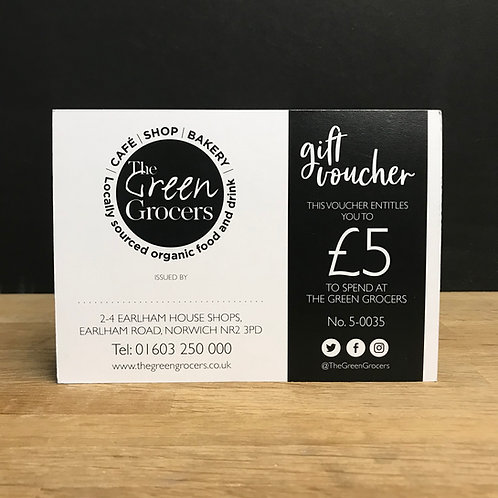 The Green Grocers £5 Gift Card