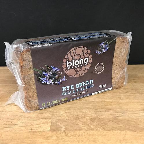 Biona Rye Bread Chia & Flax Seed