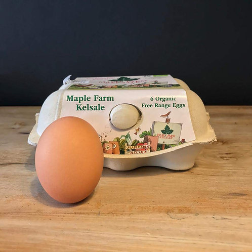 MAPLE FARM ORGANIC FREE RANGE EGGS (BOX OF 6)