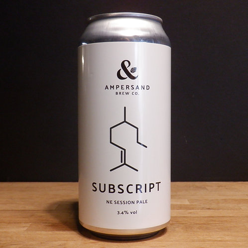 AMPERSAND - SUBSCRIPT - 440ML CAN - 3.4% ABV