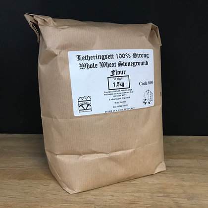 Letheringsett 100% Strong Whole Wheat Stoneground Flour 1.5KG