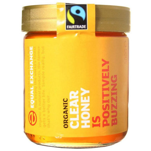 EQUAL EXCHANGE ORGANIC CLEAR HONEY 500G