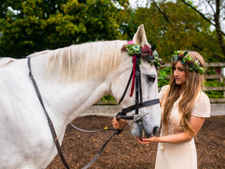 Horsing Around with Flower Crowns