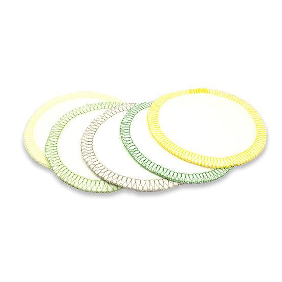 Waschbare Reinigungspads aus Bio-Baumwolle (5er Set)