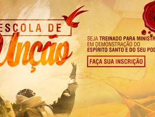 ESCOLA DE UNÇÃO - INSCREVA-SE e seja Treinado como um GUERREIRO de ELITE do SENHOR.