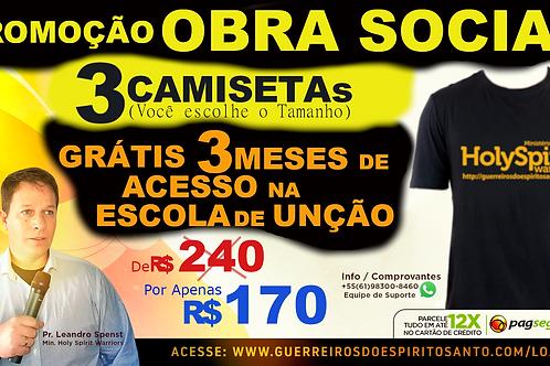 PROMOCAO 3 CAMISETAS+3 MESES DE ACESSO (Frete R$50)