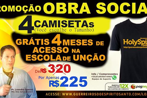 PROMOCAO 4 CAMISETAS+4 MESES DE ACESSO (Frete R$60)