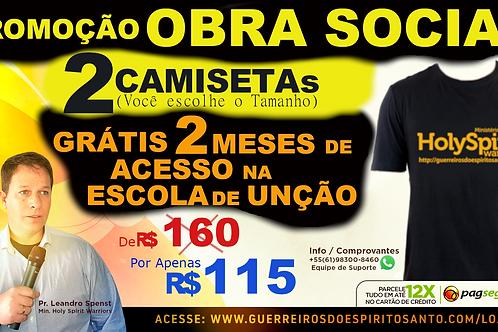 PROMOCAO 2 CAMISETAS+2 MESES DE ACESSO (Frete R$50)