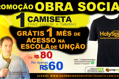 PROMOCAO 1 CAMISETA+1 MES DE ACESSO (Frete R$40)