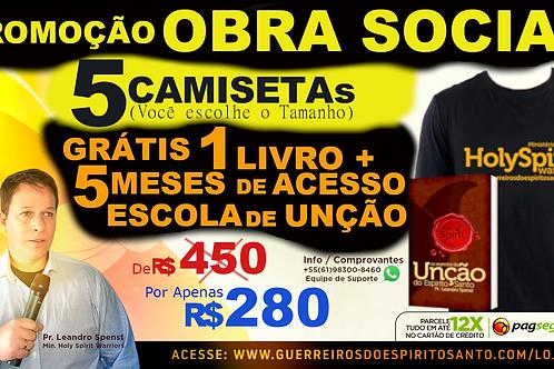 PROMOCAO 5 CAMISETAS+1 LIVRO+5 MESES DE ACESSO(Frete R$60)
