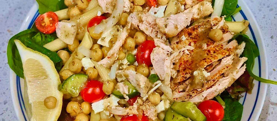 "The ""Gains"" Salad - Greek Pasta Salad Recipe"