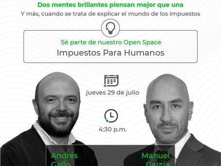 Sé Parte de Nuestro Open Space Impuestos Para Humanos