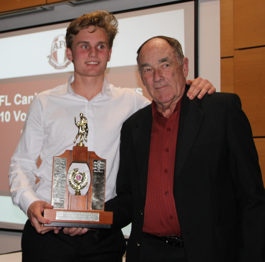 Rising Stars John Kirkpatrick Clubman Award Harry Palmer with John Kirkpatrick