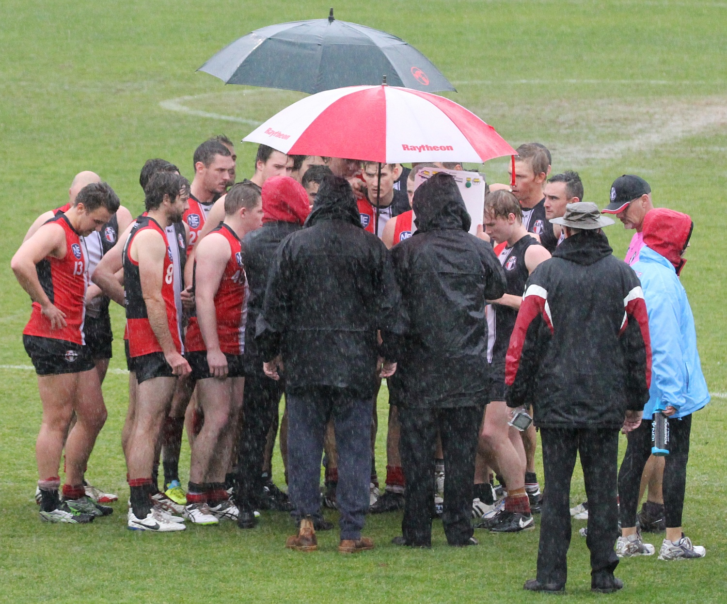 Rd 10 v Belconnen Quarter time in the rain