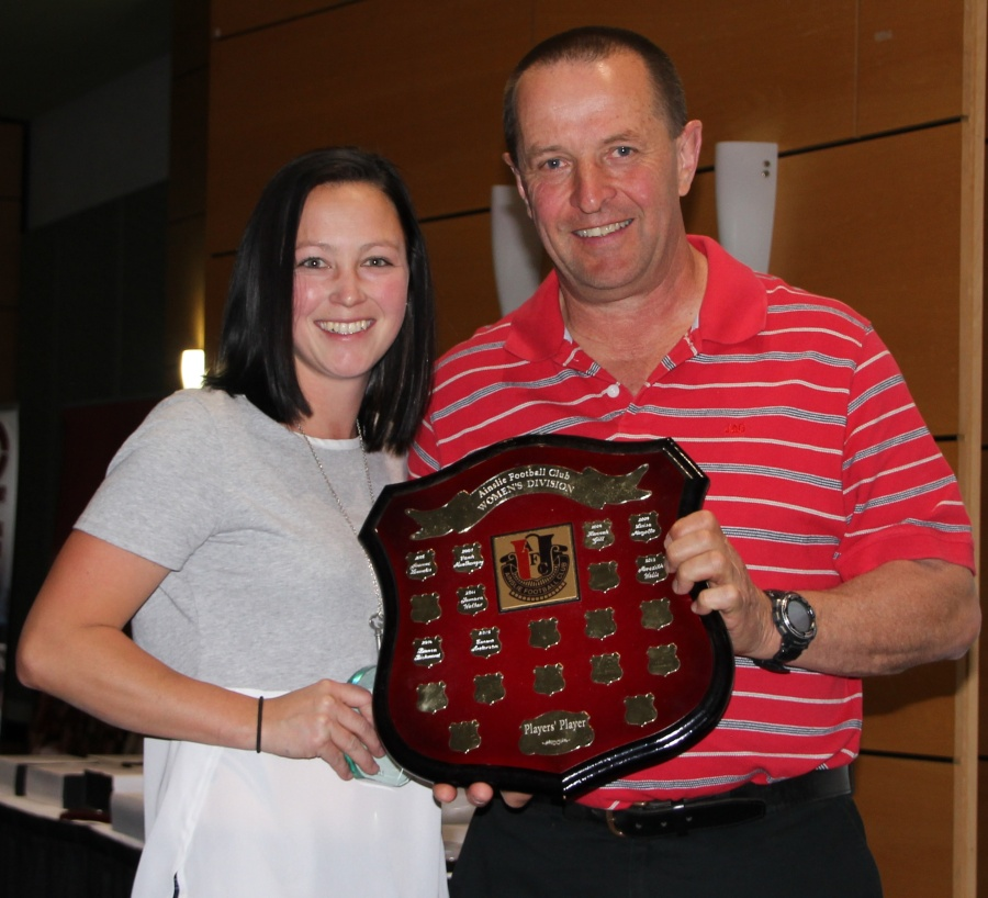 Womens Players Player Emma Anderson with Brian James