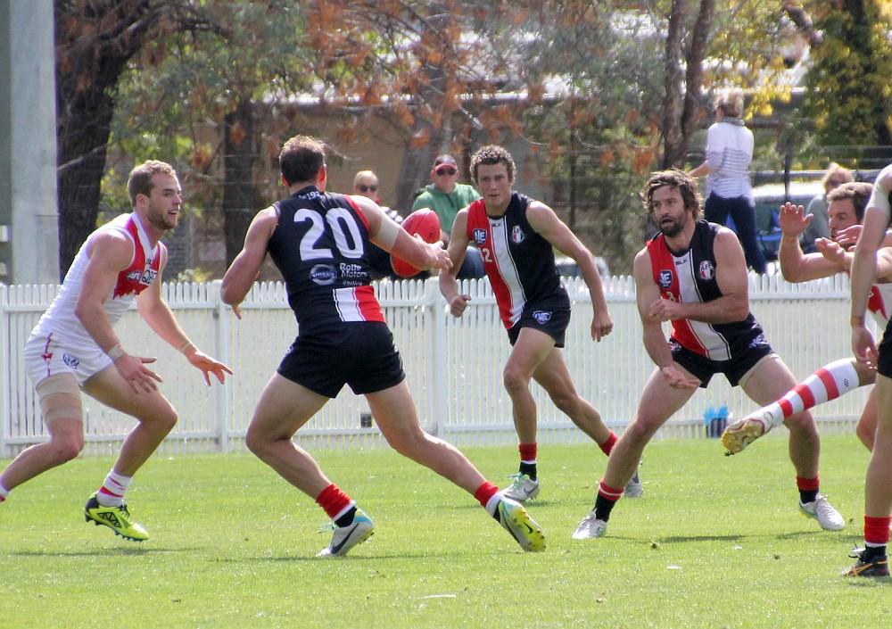 Ian Lawless handballs