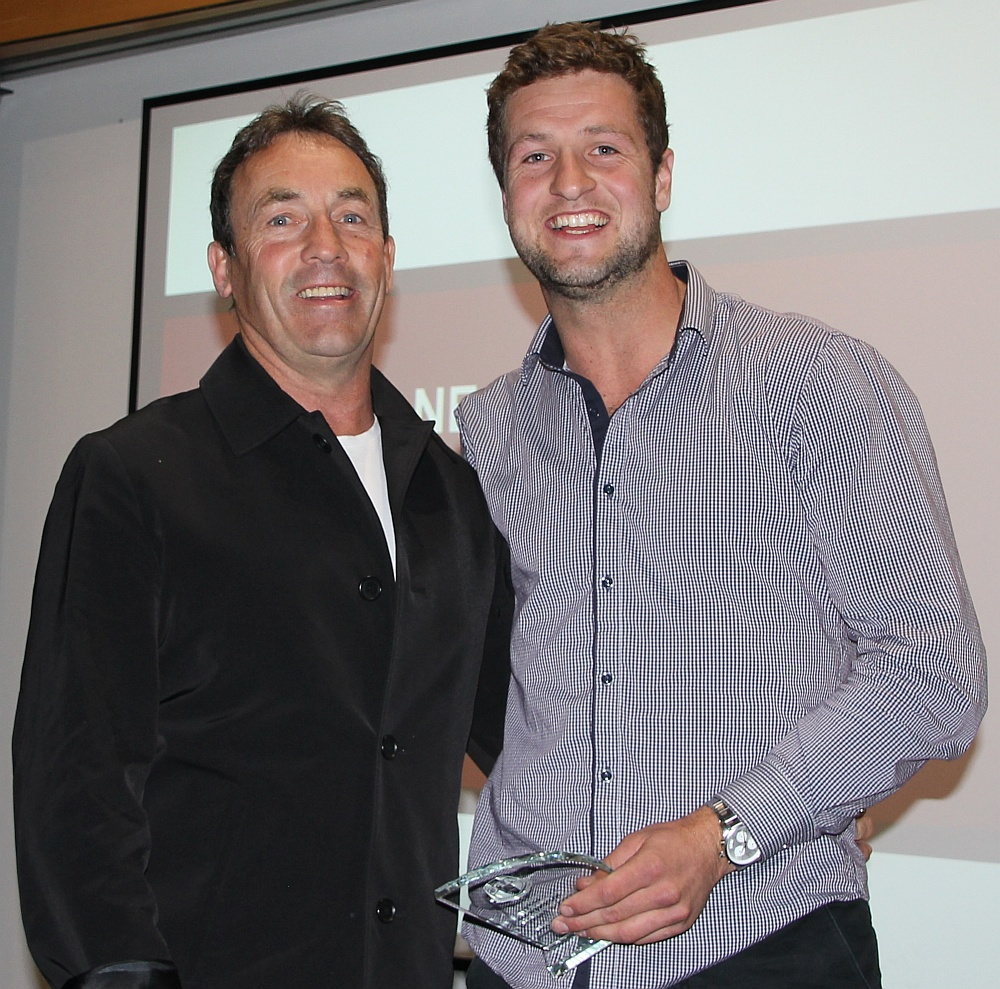 NEAFL Runner Up BF Nick Heyne with Chris Rourke