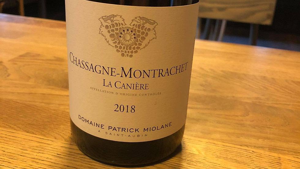 Chassagne-Montrachet La Canière Dom Patrick Miolane 2018 Blanc