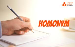 Indonesian Homonyms