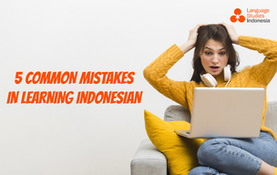 Common Mistakes in Learning Indonesian