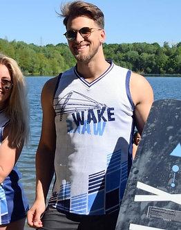 quick-dry Tank-Ridershirt WAKEWAKE blau (Restposten)