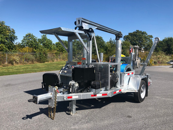 3,000 lbs PULL OVD/URD P-LINE WINDER/PULLER (UNIVERSAL- Accepts all Major Spider Style Controllers) Pad Mount URD Attachment Option