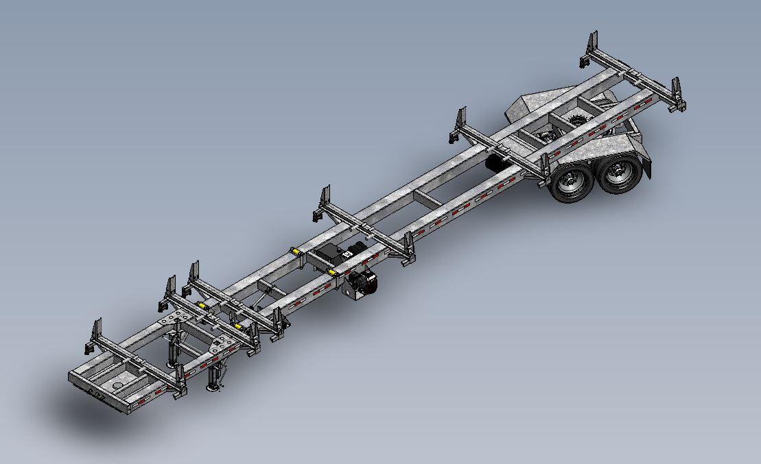 PT50 Steerable Transmission Pole Trailer w/ LIFETIME WARRANTY MEGA-ROLLER w/ Self-Securing Securelock