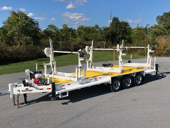 """3 x 8K Payload Turret Trailer w/ LIFETIME WARRANTY PINLESS POWERLOCK™ & 20"""" OVERSIZED Turret Bearing (Tandem Dual Axle Available)"""