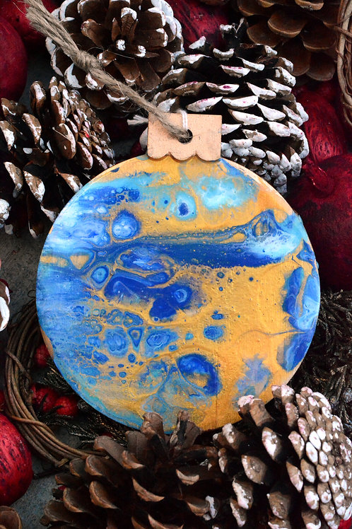 Blue and Gold - Christmas Ornament