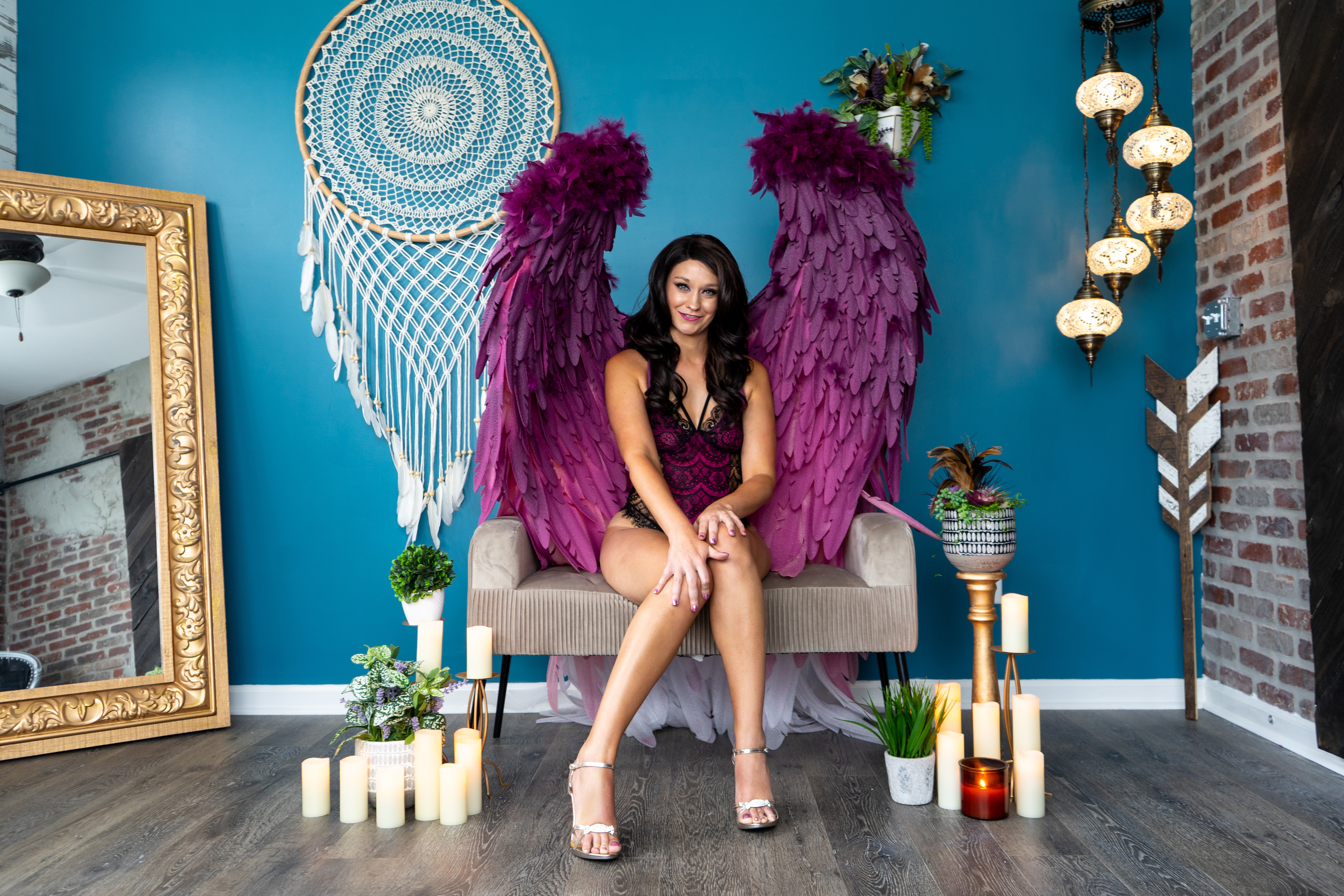 Boudoir With Angel Wings