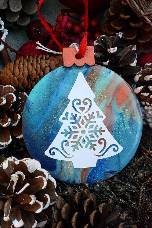 Christmas Tree with Sand Dollar - Christmas Ornament