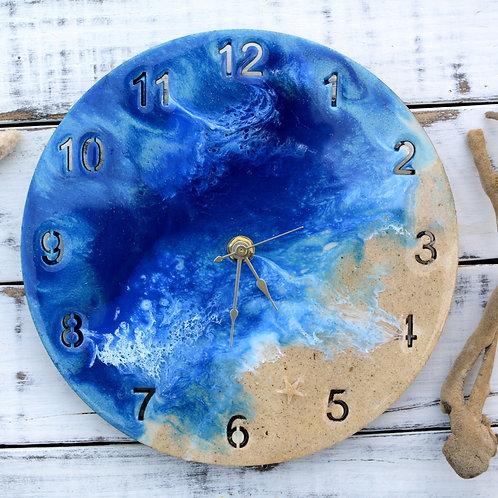 Deep Blue Ocean Sea Clock