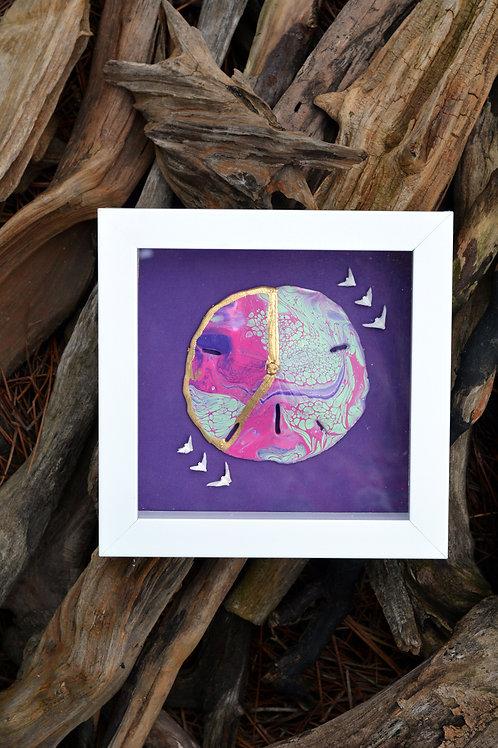 copy of Kintsukuroi Sand Dollar Pink / Purple / Teal