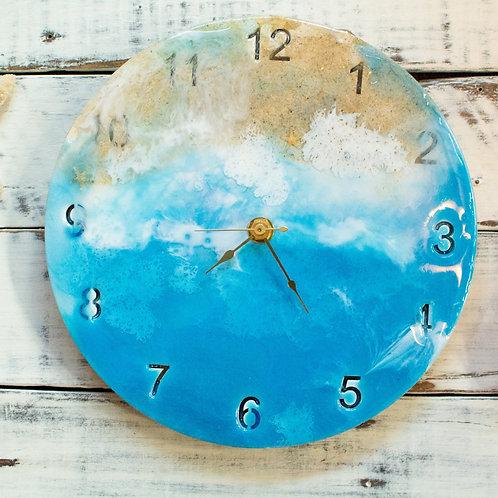 Blue Ocean Sea Clock