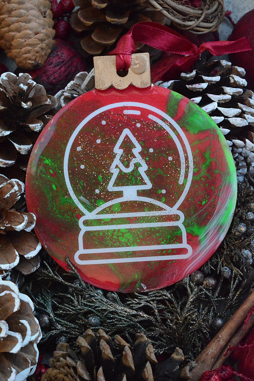 Red Snowglobe - Christmas Ornament