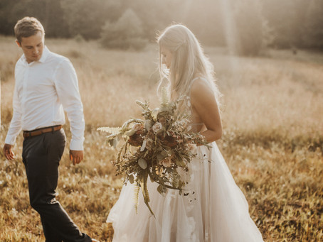 Whimsical Golden Hour Styled Elopement