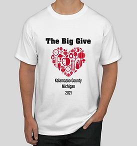 The Big Give Heart T-Shirt White - KalCo