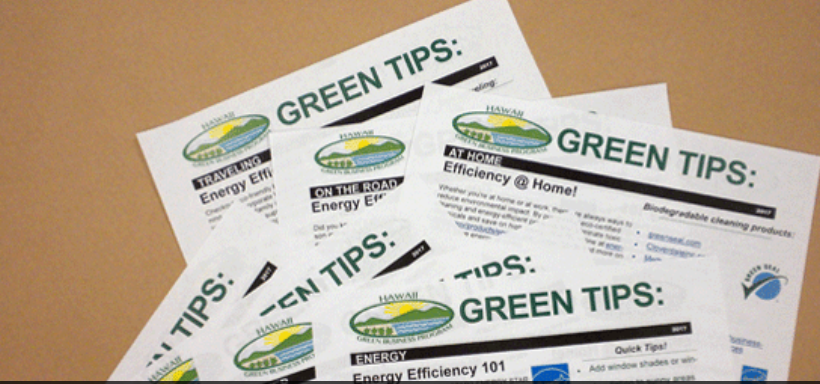 STATE HONORS BUSINESS & EVENTS FOR GREEN PRACTICES