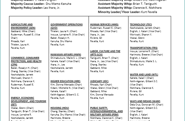 SENATE CONFIRMS LEADERSHIP ANDCOMMITTEE ASSIGNMENTS FOR THE 2019 LEGISLATIVE SESSION