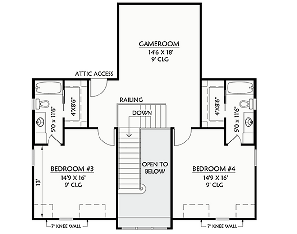 PLAN #4103 2nd Floor FP B&W.png