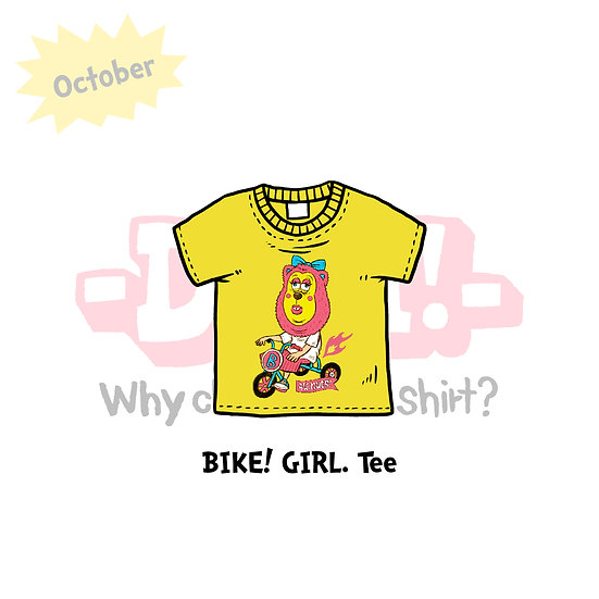 BIKE! GIRL. T-SHIRTS