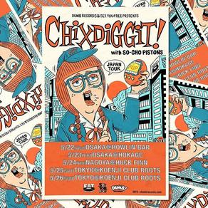 Chixdiggit! Japan Tour 2019 ライブレポ !!