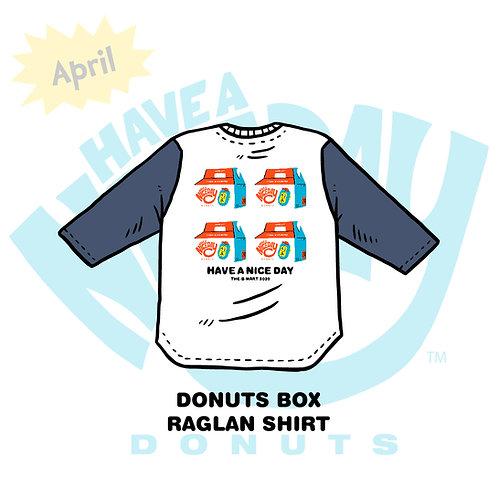 DONUTS BOX RAGLAN SHIRT