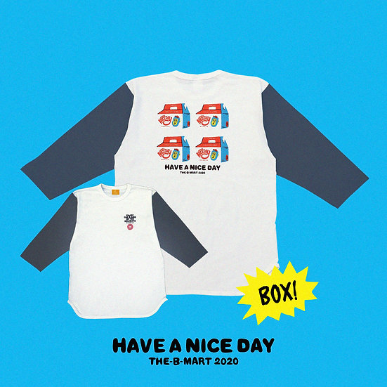DONUTS BOX RAGLAN SHIRT