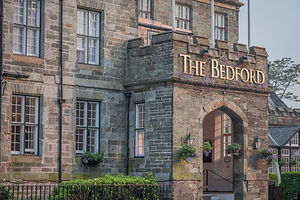 The Bedford Hotel's entrance in Tavistock, Devon