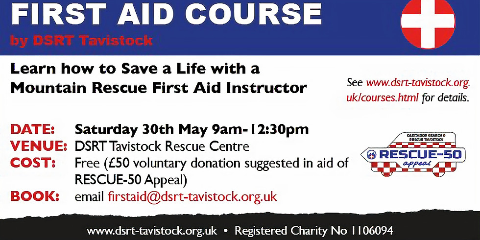 First Aid Course by Dartmoor Search & Rescue Team Tavistock