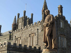 Tavistock Town Hall and The Duke of Bedford Statue