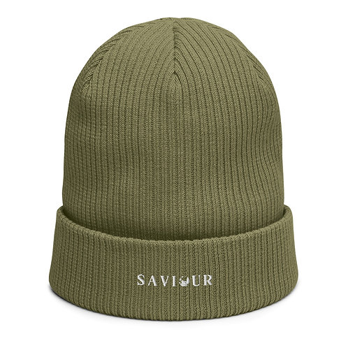 SAVIOUR - Organic Ribbed Beanie (Olive Green)